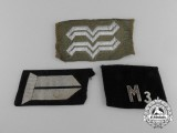 A Lot of Three Third Reich period Collar Tabs and Insignia