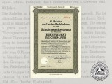 A 1942 German State Debenture Bond Mecklenburg 100 Reichsmark