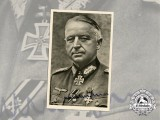 A Wartime Signed Picture Postcard of Erich von Manstein
