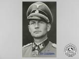 A Wartime Picture Postcard Signed by SS-Obersturmbannführer Otto Kumm