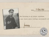 A Photo of SS-Oberstgruppenführer Kurt Daluege & Self-Signed Statement of Authenticity