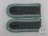A Mint Matching Pair of Wehrmacht Gebirgsjäger Unteroffizier's Shoulder Boards