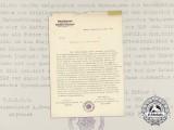 A Congratulatory Letter from the Reichsluftschutzbund
