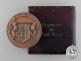 A Second War Period City of Neuss Honour Award with Case