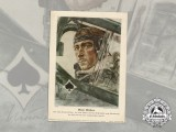 A Print of Werner Mölders; Spanish Civil War Fighter Ace