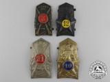 Four Inter-War Italian Helmet/Cap Insignia