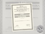 A Formal Croatian Document for the Award of the King Zvonimir Order; Leutnant Josef Weiser, Fliegerhorst Agram