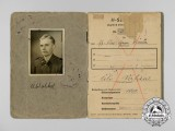 A Soldbuch to SS Estonian Volunteer Ülo Vahkal who Died of Wounds in 1945