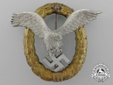 An Early War Combined Luftwaffe Pilot and Observer Badge by Friedrich Linden