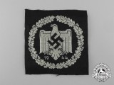 A Mint 1944 DRL Silver Sports Badge; Cloth Version
