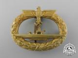 """A Kriegsmarine Submarine War Badge by """"Schwerin Berlin 68"""""""