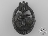 A German Tank Badge by Juncker; Bronze Grade