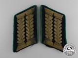 An Extremely Rare Set of Wehrmacht Official Pharmacist Collar Tabs