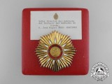 An Argentinian Order of Merit Breast Star to Spanish Government Recipient