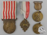 Five First War French Medals and Awards