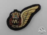 A QEII Royal Canadian Air Force (RCAF) Wireless/Air Gunner (WAG) Wing
