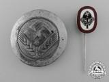 Two German Labour Service Badges