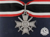 A Knight's Cross of the War Merit Cross with Swords by Deschler with Case