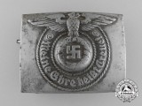A Waffen SS EM/NCO's Steel Belt Buckle by Robert C. Dold, Offenburg