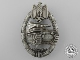A Fine Quality & Desirable Silver Grade Tank Badge by C.E. Juncker