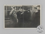 An Unpublished Picture Postcard of A.H. and High Ranking Kriegsmarine Officials