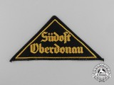 "An HJ ""SÜDOST OBERDONAU"" District Sleeve Insignia"
