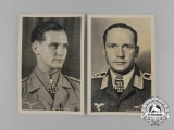 Two Luftwaffe Knight's Cross of the Iron Cross Recipients Postcards
