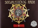 The Yugoslavian Order of the Hero of Socialist Labour to President Marijan Cvetković