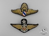 Two Royal Thai Air Force (RTAF) Badges