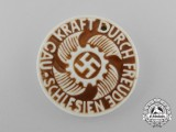 A Third Reich Period District Silesia Strength Through Joy Celebration Badge