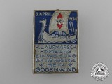 A 1934 Hein Godenwind HJ Rally Badge for the Inauguration of the Youth Hostel