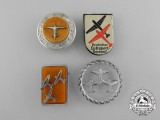A Lot of Four 1930's Luftsport Badges