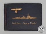 A Photo Album of  Kriegsmarine Destroyer Georg Thiele Belonging to Sailor Paul Königs