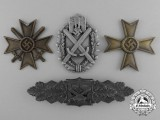 A Fine Lot of Four Second War German Medals, Awards, and Decorations