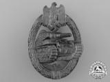 A Silver Grade Tank Badge; Hollow Version