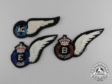 Three Second War Air Force Wings
