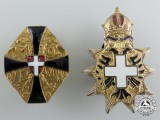 Two First War Austrian Imperial Patriotic Badges