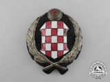 A Croatian Army and Police Officer's Cap Badge