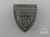 "A 1934 DAF ""Day of Work Procurement"" Badge"