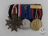 A Luftwaffe Merit & Long Service Medal Bar Consisting of  Three Awards