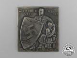 A 1936/1937 NSDAP Winterhilfswerk 5 Schilling Donation Plaquette