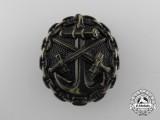 An Imperial German Navy (Kaiserliche Marine) Wound Badge; Black Grade
