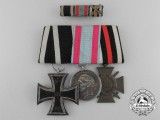 An First War Prussian & Hessen Medal and Ribbon Bar