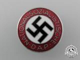 A Mint NSDAP Party Member Lapel Badge by Frank & Reif