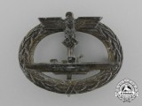 A Kriegsmarine Submarine Badge by C. E. Juncker