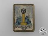 A 1936 Pferdingsleben Memorial Consecration Badge