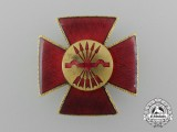 A Spanish Civil War Falange Nurse's Red Cross Badge circa 1930's