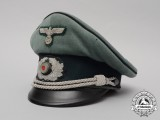 A Wehrmacht Heer (Army) Engineer/Pioneer Officer's Visor Cap by Clemens Wagner