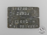 A Numbered German POW Camp ID Tag for Allied Soldiers Housed at the Stalag I-B Hohenstein Camp