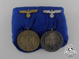 A Wehrmacht 4 and 12 Year Long Service Medal Bar